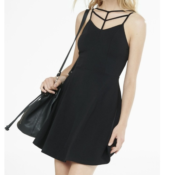 8f098509 Express Dresses & Skirts - Express lyst strappy front littleblack  skaterdress